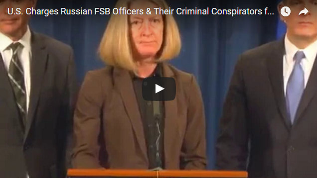 U.S. Charges Russian FSB Officers and Their Criminal Conspirators for Hacking Yahoo and Millions of Email Accounts