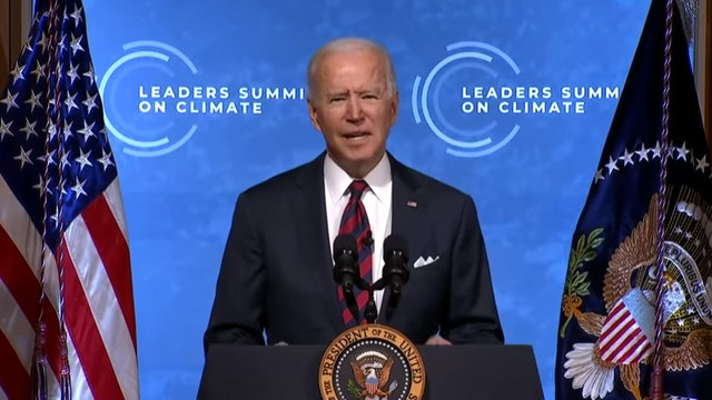 President Biden at the Virtual Leaders Summit on Climate Opening Session